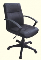 Black Leather Middle Back Executive Chair