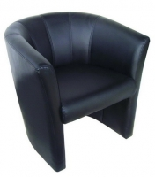 Black PU Tub Chair